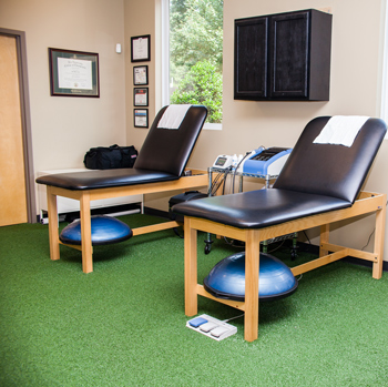 Treatment tables used for sports therapy