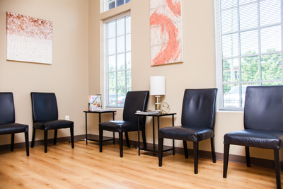 Waiting area of Kennesaw chiropractor's office