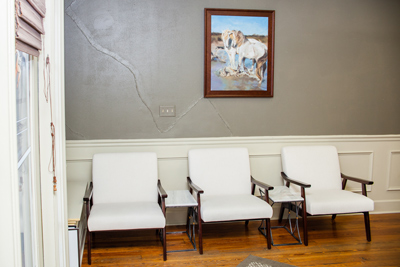 Waiting area of our Marietta chiropractor's office